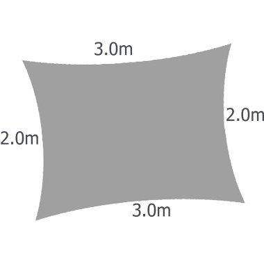 Kookaburra - Toldo impermeable, rectangular (3 x 2 m), color beige
