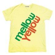 タイポグラフィー Tシャツ 大人気を博した炭酸飲料メローイエローのパロディTシャツ mellowyellow