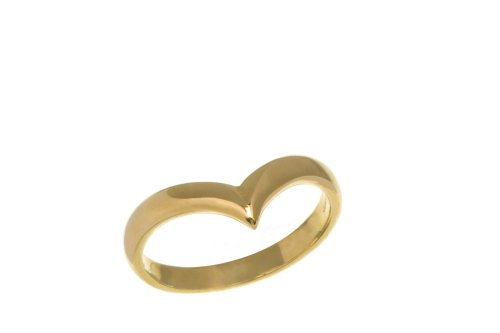 9ct Yellow Gold Ladies' Wish Bone Ring Size U