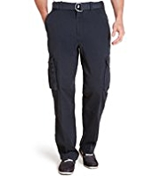 North Coast Utility Pure Cotton Straight Fit Cargo Trousers