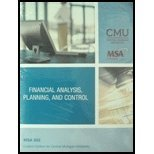 img - for Financial Analysis, Planning, and Control, MSA-602 Custom Edition for Cental Michigan University book / textbook / text book