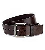 Leather Rectangular Buckle Belt
