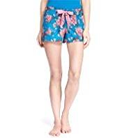 Limited Collection Pure Cotton Floral Twill Pyjama Shorts