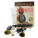 Bare Escentuals 100% Pure BareMinerals Get Started Complexion Kit - Light (2xFdn Spf15+Mineral Veil+Face Color+3xBrush+DVD+Brush Shampoo) - -