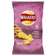 Walkers Prawn Cocktail Crisps 6 Pack 150g Picture