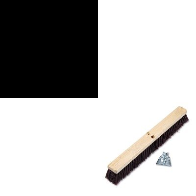Kitbwk20324Ungal140 - Value Kit - Unger Pro Aluminum Handle For Floor Squeegees/Water Wands (Ungal140) And Boardwalk Floor Brush Head (Bwk20324) front-604572