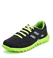 Lightweight Panelled Lace Up Trainers