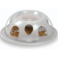 SmartCat Tiger Diner Portion Control Natural Plastic Cat Dish-