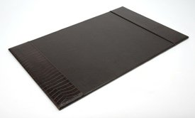 Buy Faux Leather Desk Blotter- Black