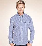 Big & Tall Blue Harbour Pure Cotton Striped Oxford Shirt