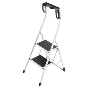 Platform Stepladder, 11-7/8 In. W, Steel from Hailo