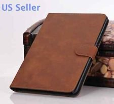 Retro Ultra Thin Folio PU Leather Case Cover for Apple iPad Mini Tab. (Brown)