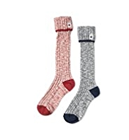 2 Pairs of Cotton Rich Thermal Welly Sports Socks