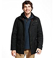 North Coast Pure Cotton Wax Belted Jacket