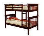 Twin over Twin Mission Bunk Bed in Cappucino