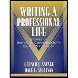 img - for Writing a Professional Life (01) by Savage, Gerald J - Sullivan, Dale L - Dragga, Sam [Paperback (2000)] book / textbook / text book