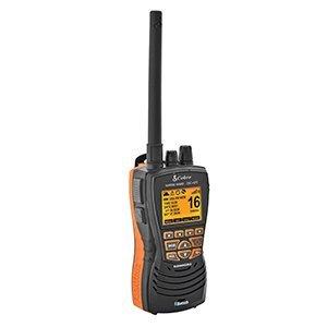 Cobra Electronics Corporation MRHH600FLTGPSBT VHF Radio W/Bluetooth Floating (Color: Grey, orange)