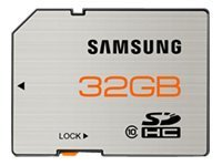 Samsung 32 GB SDHC Flash Memory Card, Brushed Metal -  MB-SSBGA/US