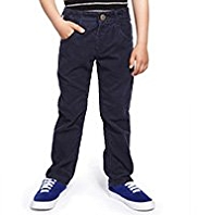 Pure Cotton Adjustable Waist Corduroy Trousers
