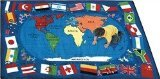 "Joy Carpets Kid Essentials Geography & Environment Flags of The World Rug, Multicolored, 10'9"" x 13'2"" - 1"