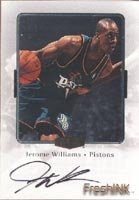 Jerome Williams Detroit Pistons 2000 Flair Showcase FreshINK Autographed Hand Signed... by Hall of Fame Memorabilia