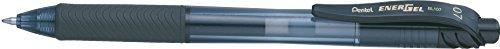 Pentel - Bolígrafo de punta rodante retráctil (0,7 mm, tinta de gel), color negro