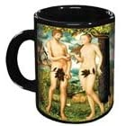 Adam and Eve Disappearing Fig Leaf Mug