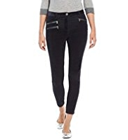 M&S Collection Zipped Corduroy Ankle Grazer Jeggings
