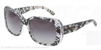 Dolce &amp; Gabbana F&#252;r Frau 4101 Black Lace / Grey Gradient Kunststoffgestell Sonnenbrillen