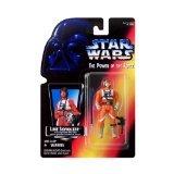 Star Wars Power of the Force Luke Skywalker in X-Wing Fighter Pilot Gear Red Card Action Figure