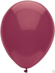 "BURGUNDY 12"" Helium Quality Latex Balloons Pk of 15"