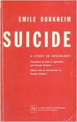 emile durkheims suicide essay Read this full essay on emile durkheim's suicide 1 durkheim suggests that suicide is tied with moral life as a whole (p 45) not only in the te.
