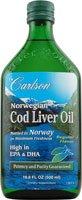 Carlson Norwegian Cod Liver Oil Natural, 500ml