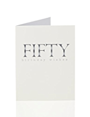 Fifty Shades of Grey 50th Birthday Card