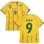 2010-11 カメルーン代表 アウェイ半袖 ユニフォーム #9 ETO'O (エトー) (S)