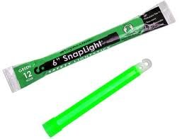 Pack of 20 Green Snap-On Cyalume Light Sticks for Power