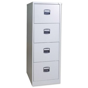 Trexus Foolscap Filer, 4 Drawer - Grey