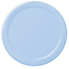 "Plt 9"" Hi Ct Powder Blue 20ct - 1"