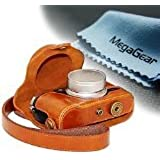 """MegaGear """"Ever Ready"""" Protective Leather Camera Case, Bag for Fujifilm X30 12 MP Digital Camera (Light Brown)"""