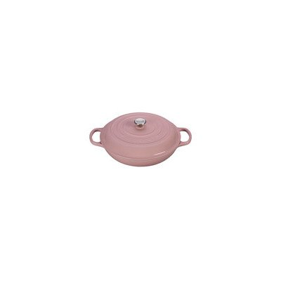 Le Creuset Signature Enameled Cast-Iron 3-3/4-Quart Round Braiser, Black