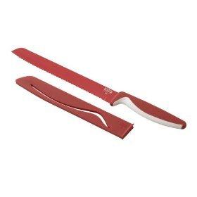 Kuhn Rikon Colori Bread Knife - Non-stick - Red
