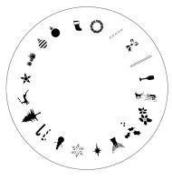 Design Wheel - Christmas Nail Master Stencil Shield