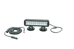 Magnetic Mount Led Light Emitter - 20 Leds - 60 Watts - 750'L X 110'W Beam - Extreme Environment (-B