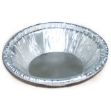 HFA 30535 Aluminum Pie Pan Dimensions: 9 5/8-Inch Top out, 8 ¾-Inch Top in, 7-Inch Bottom (Case of 200) (7 Aluminum Pie Pans compare prices)