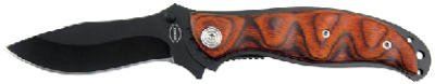 Frost Cutlery Red Desert Iii Tactical Folder Knife Pakawood Handle 4-1/2 In. Closed
