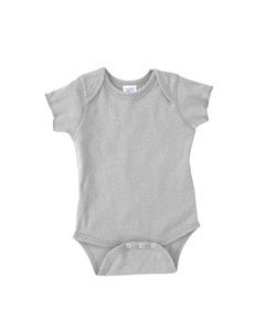 Rabbit Skins Infant Baby Rib Lap Shoulder Bodysuit (Heather) (NB)