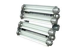 Explosion Proof Fluorescent Lights For Paint Booths, Oil Rigs, Boats -2 Foot-4 Lamp- Multi-Volatge(-