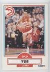 1990 91 Fleer # 5 Spud Webb Atlanta Hawks Basketball Card