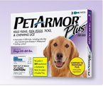 Pet Armor Plus for Dogs 45-88 lbs, 3 Dose Box