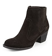 Indigo Collection Suede Elasticated Panel Ankle Boots with Insolia®